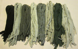 #6 Grays, blacks, etc.  200 Wool Strips  Primitive Rug Hooking or Punch Needle