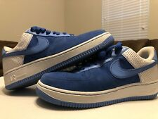 Nike Air Force 1 Af-1 '82 Mens Athletic Shoes 2006 Blue Suede SNEAKERS Sz 10