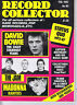 DAVID BOWIE / MADONNA / THE JAM / STATUS QUO Record Collector no. 90 Feb 1987