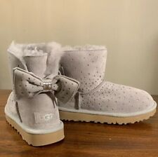 UGG STARGIRL BOW MINI 1098475 SEAL SIZE 6 EXCLUSIVE AUTHENTIC WOMAN'S BOOTS NEW