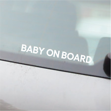 BABY ON BOARD lettering - Car Window Bumper Vinyl Decal Sticker