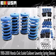 93-97 Civic Del sol 88091 crx Coilover Lowering Coil Springs Set BLUE/BLACK