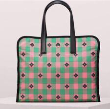 KATE SPADE NEW YORK Nylon Tote Shopper Morley Large Tote, Pink Green, NWOT