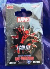 "Disney Pin NEW DLR runDisney Spiderman ""I Did It"" Super Heroes Half Marathon"