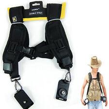 Fast Double Dual Cameras Shoulder Belt Strap Sling for Nikon Canon Sony DSLR SLR