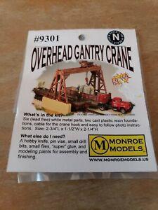 Monroe Models N Scale Trains 9301 Overhead Gantry Crane Model Railroad NEW