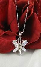 Sterling Silver Sparkling Dragonfly  Necklace  FERAL  CAT RESCUE