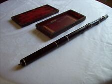 Antique Wooden Flute with Original Case