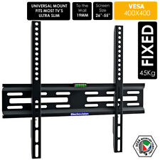 "Slim TV Mount Wall Bracket Flat Fixed LCD LED PLASMA For 30""-55"" Universal fit"