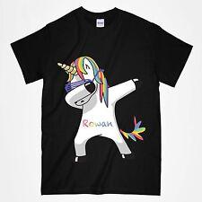 Kids Unicorn Dab T Shirt Personalised T Shirt Any Name Dabbing Unicorn T Shirt