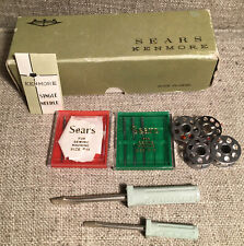 Vintage Sears Kenmore Sewing Machine Tools Box Needles Size #14 #16 Screwdrivers