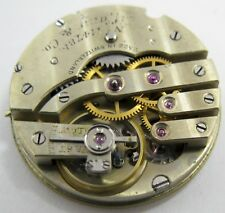 wolf tooth ratchet wheel . Quality Tiffany Pocket Watch Movement .