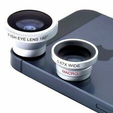 3 in 1 Silver Magnetic Len Wide Angle Fish Eye Macro For All Type Of Smartphone