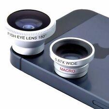 3 en 1 argent magnétique len grand angle fish eye macro pour tous type de smartphone