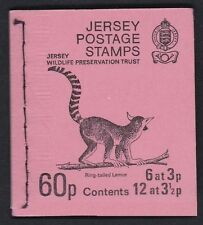 JERSEY POSTAGE STAMP BOOKLET 1974 SB19a WILDLIFE PRESERVATION TRUST INVERTED