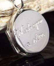 Sterling Silver 925 Locket 'Wish Upon A Star' Pendant Gift Bag UK Jewellery
