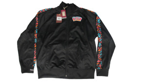 New San Antonio Spurs Mens Size XS-2XL Mitchell & Ness Black Track Jacket $95