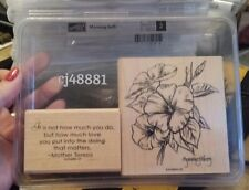 MORNING SOFT Stampin Up wm Stamp Set BOTANICAL Flowers Morning Glory Words Quote