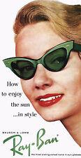 1950s RayBan Cats Eye Sun glass Poster 10 x 19 Giclee Print