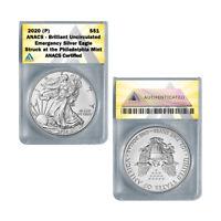 2020 (P) American Silver Eagle BU - Emergency ASE Production