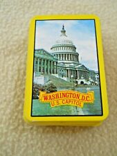 Vintage Mini Playing Card Deck Washington DC / U S Capitol / COMPLETE / No Box
