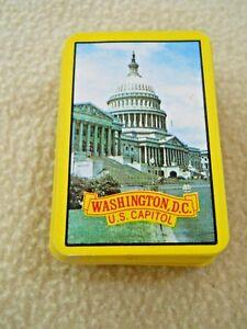 Vintage Mini Playing Card Deck Washington DC / U S Capitol / COMPLETE / No Box