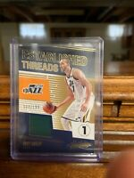 D5311 RUDY GOBERT 2018/19 ABSOLUTE ESTABLISHED THREADS JAZZ JERSEY CARD #94/199