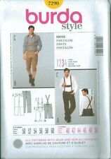 Burda Young Men's Fashion Pants Trousers Sewing Pattern 7290 Suspender Knickers