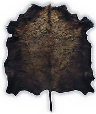 REAL TANNED GENUINE BUFFALO BISON ROBE RUG W/HAIR LEATHER TEE PEE RENDEVOUS CAMP
