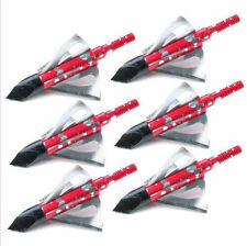 6PCS Orignal RED 2XJ Crimson Talon XT 6-Blade Broadhead hunting broadheads tips
