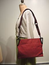 DKNY Signature Red Jacquard Crossbody- shoulder bag was $195