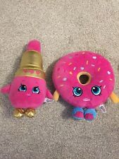 Shopkins Small Bundle Pink Delish Doughnut & Lipstick Soft Plush Toy