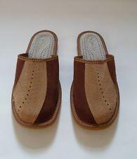 Hausschuhe für Herren, Pantoffel aus Leder, Größen 40 bis 46