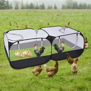 Pet Folding Chicken Coop Rabbit Hutch Hen Chook Dogs Ducks Pen Run