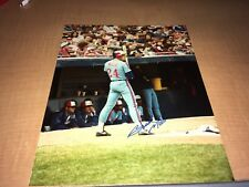 "Brad Mills Montreal Expos Signed 8"" x 10"" Baseball Photo W/Our COA"
