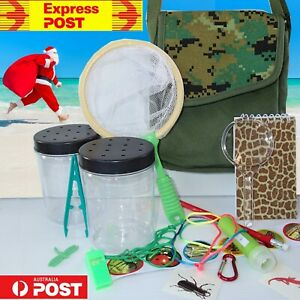 Bug Catcher EXPLORER BAG Insect KIT Magnifying glass torch Kids Camping EXPRESS