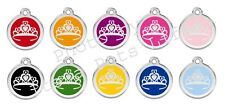 Crown Enamel/Solid Stainless Steel Engraved ID Dog/Cat Tag