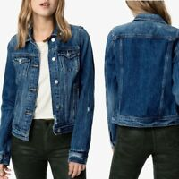 Joes Jeans Womens Dark Blue Collared Curtis Trucker Denim Jean Jacket Size Small