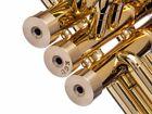 Kanstul Trumpet Medium Bottom Caps. KGUBrass. Raw Brass. D-BCMR161