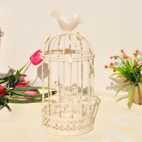 Vintage Metal Bird Cage Candle Holder Stand Hook Lantern Wedding Decoration NEW