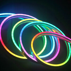 5V LED Neon Sign pixel Strip WS2812B RGB Addressable Silica Gel tape Light 1m 2m