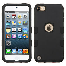 iPod Touch 5th / 6th Generation - BLACK Armor High Impact Hybrid Skin Cover Case