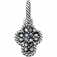 Brighton Scoop of Faith Charm Jc1265 Silver Finish & Blue Crystals