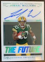 2017 Panini National Treasures Jamaal Williams THE FUTURE RC #d/25 Auto Packers!