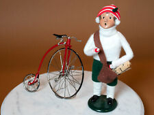Byers Choice Paperboy and High Wheel Bicycle
