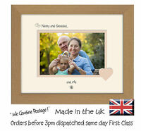 Nanny & Grandad and Me Photo Frame 6x4 Double Mounted 754F Quality Gift