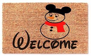 Mickey Disney Snowman Doormat - Cute Funny Gifts Christmas Home Decorative Mat