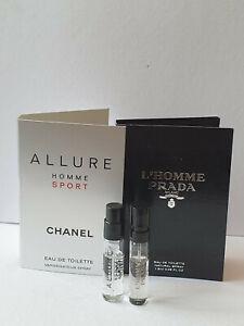 L'Homme Prada & Chanel Allure Homme Sport EDT original carded  sprays