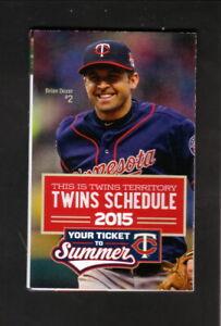 Brian Dozier--Minnesota Twins--2015 Pocket Schedule--MetroTransit