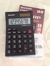 Sharp Mini Pocket Calculator EL-81N-BK
